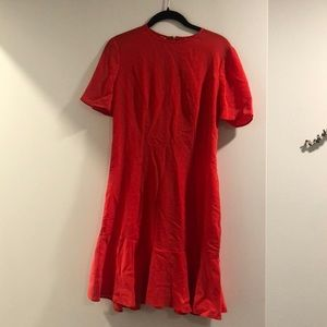 Red dress with back ties